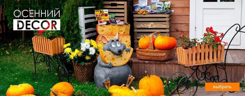 Осенний декор сада