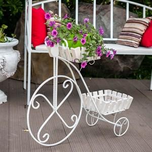 Велосипед кованый для цветов