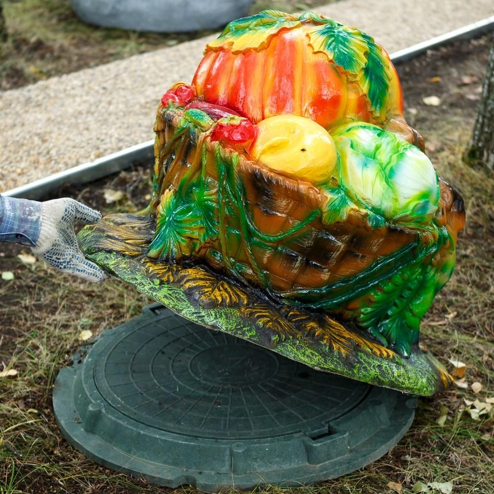 Крышка люка Корзина с овощами