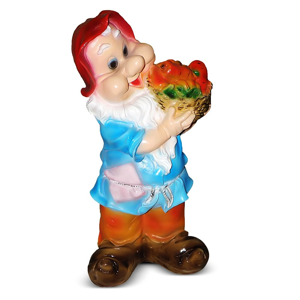 Фигурка Гном с овощами