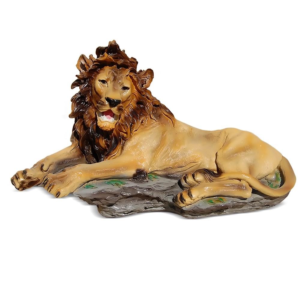Садовая фигура Лев лежит