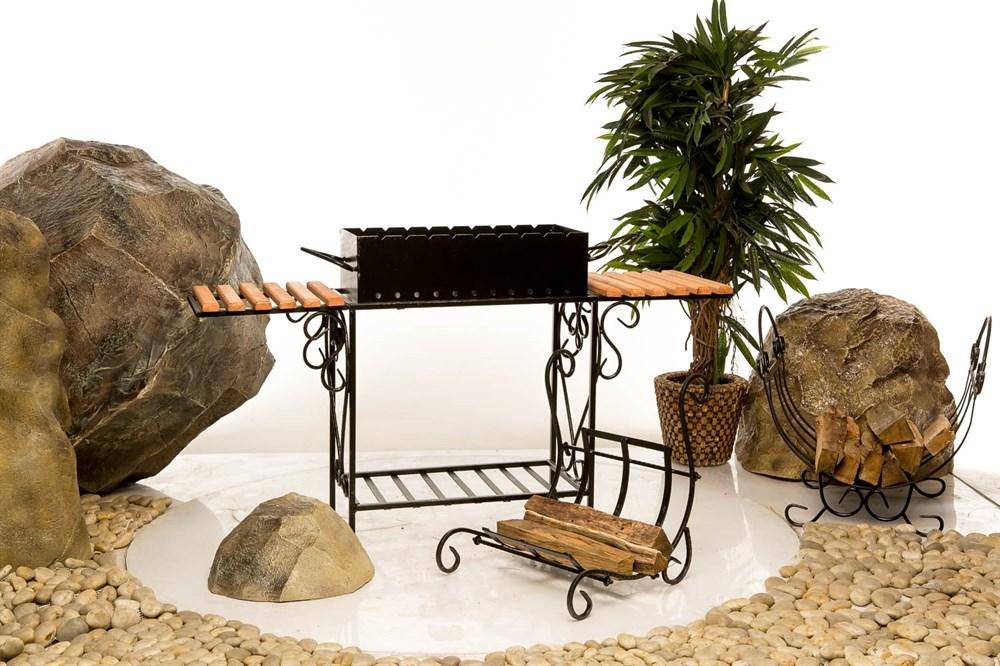 Мангал с подставками для блюда - фото 33355