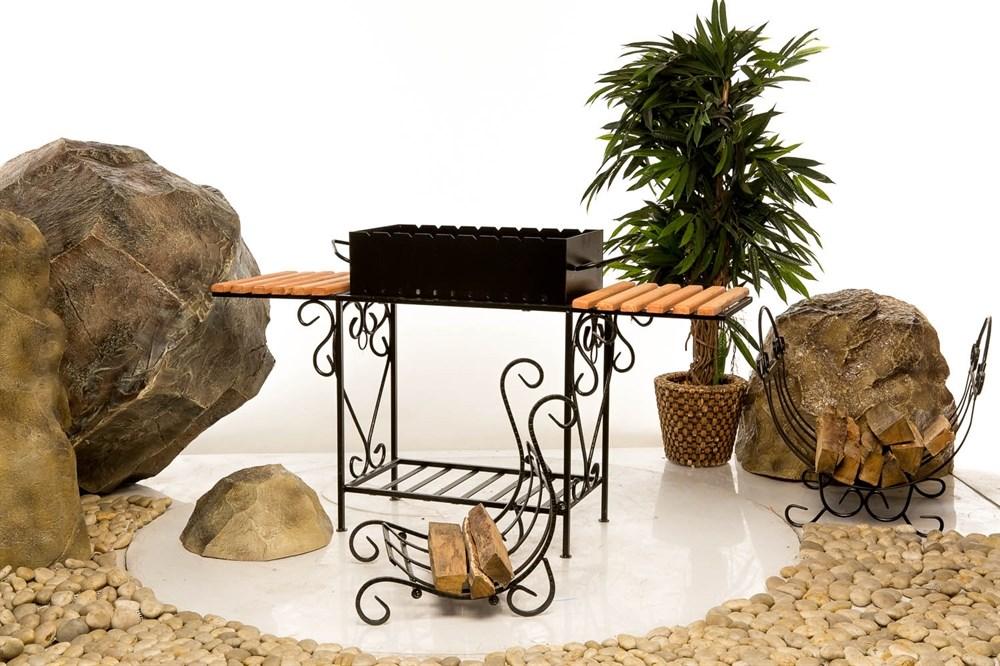 Мангал с подставками для блюда - фото 33356