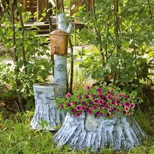 Комплект садовых фигур Умывальник и Кашпо