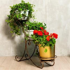 Подставка для цветов кованная