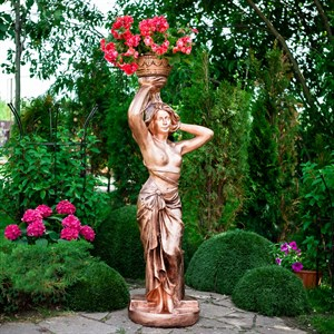 Вазон для цветов Девушка с чашей