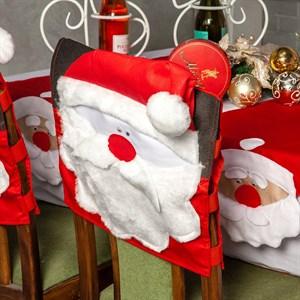 Новогодний чехол для стула