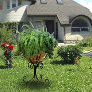 Подставка кованая садовая